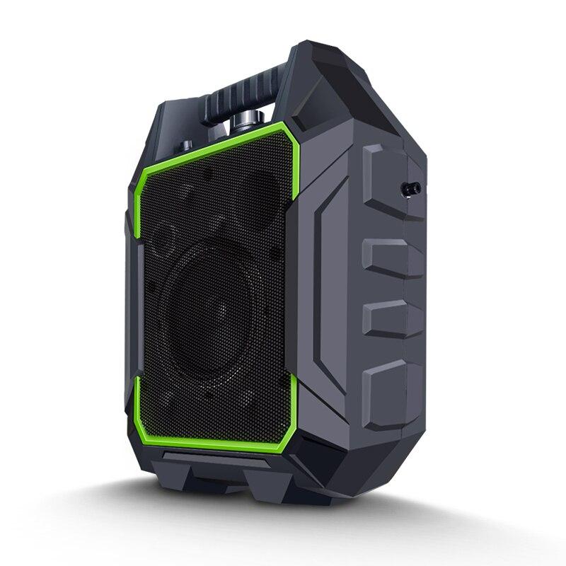Lesozoh Sans Fil Portable Haut-parleurs Stéréo Grande Puissance 60 w Sortie En Plastique Basse Haut-Parleur Radio TF AUX FM Musique Haut-Parleur pour téléphone