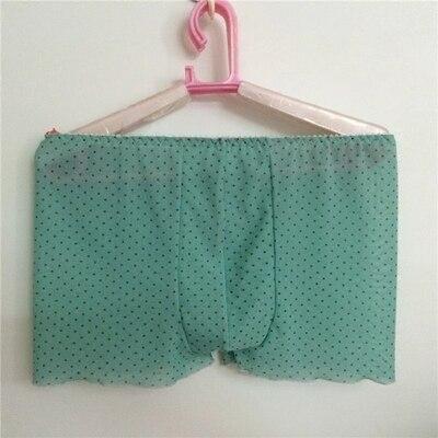 men underwear boxers sexy fashion transparent underwear boxer underwear male thin Men's shorts