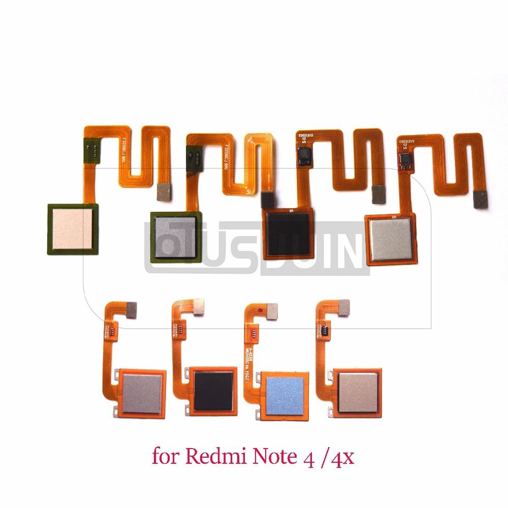 US $7 8 |1pcs new for Xiaomi Redmi Note 4 4X goodix Touch ID Fingerprint  Sensor scanner Flex Cable for Redmi note4 note4x-in Mobile Phone Flex  Cables