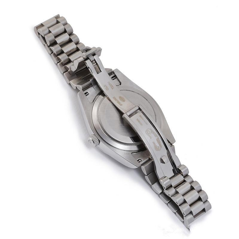 DAYDATE 40 movimiento mecnico automtico dial de champán bisel acanalado oculta plegable corona reloj luminoso Relojes - 5