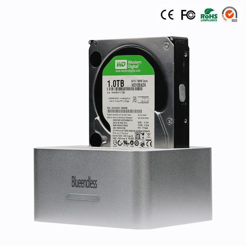 Dual Bay hard disk hdd docking 2 5 3 5 inch hard disk box usb 3