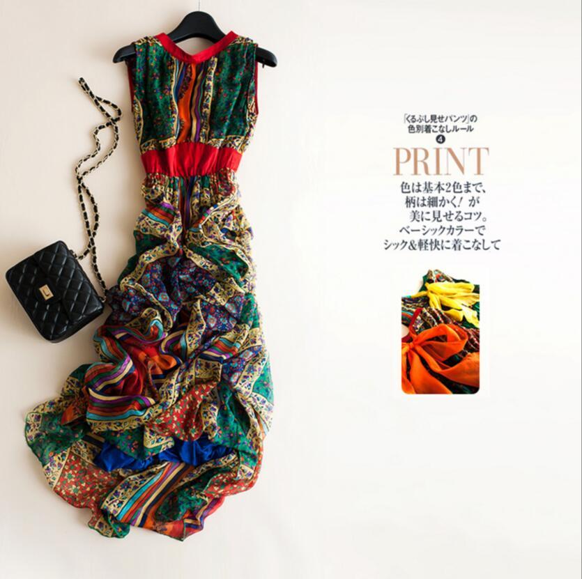 Женское платье с принтом Bogeda, повседневное длинное платье из натурального шелка с принтом, лето 2019