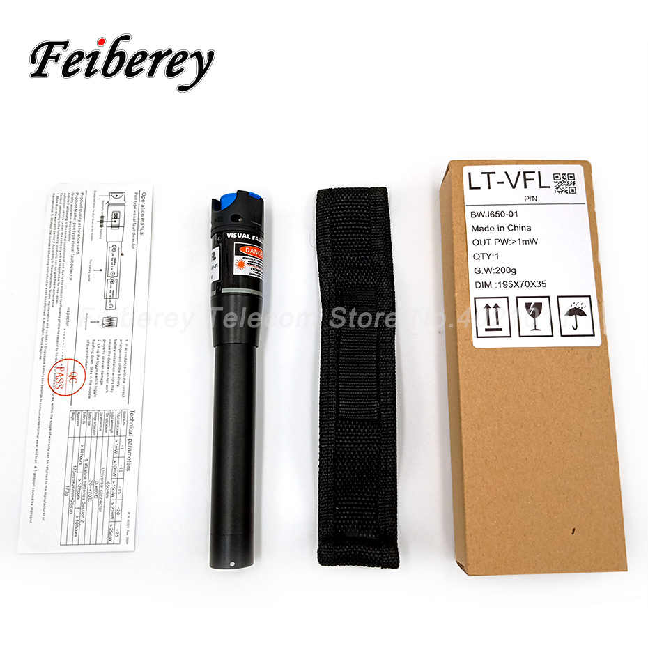 Walkingpround 20mW Pen Type Visual Fault Locator Red Light Fiber Optic Cable Tester Meter 650nm for CATV