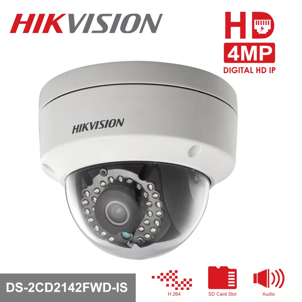 Hikvision 1080P CCTV Camera DS-2CD2142FWD-IS 4.0MP Dome IP Camera Outdoor/Indoor Security IP Camera Built-in SD Card Slot 2018 new casual girls backpack pu leather 8 colors fashion women backpack school travel bag with bear doll for teenagers girls page 5