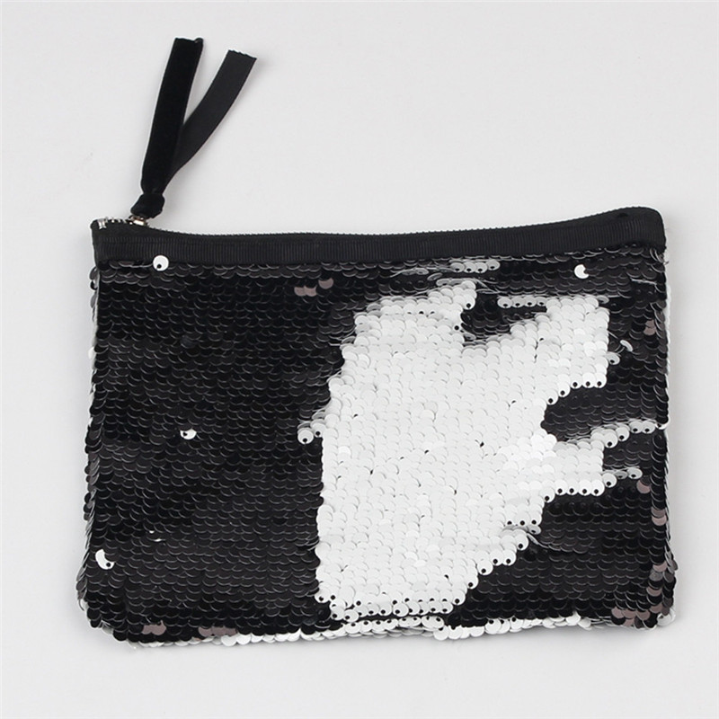 Women Coin Wallet Double Color Sequins Mini Wallet Card Holder Wallet Purse Luxury Women Girls Small Wallet Carteira Feminina