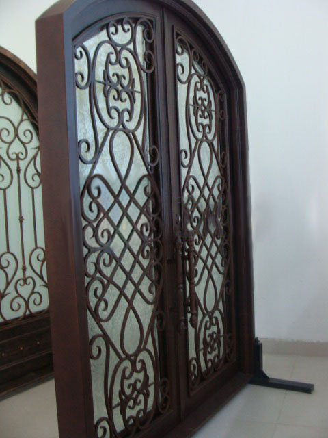 Wholesale wrought iron doors LM D055 for sale-in Doors from Home ...