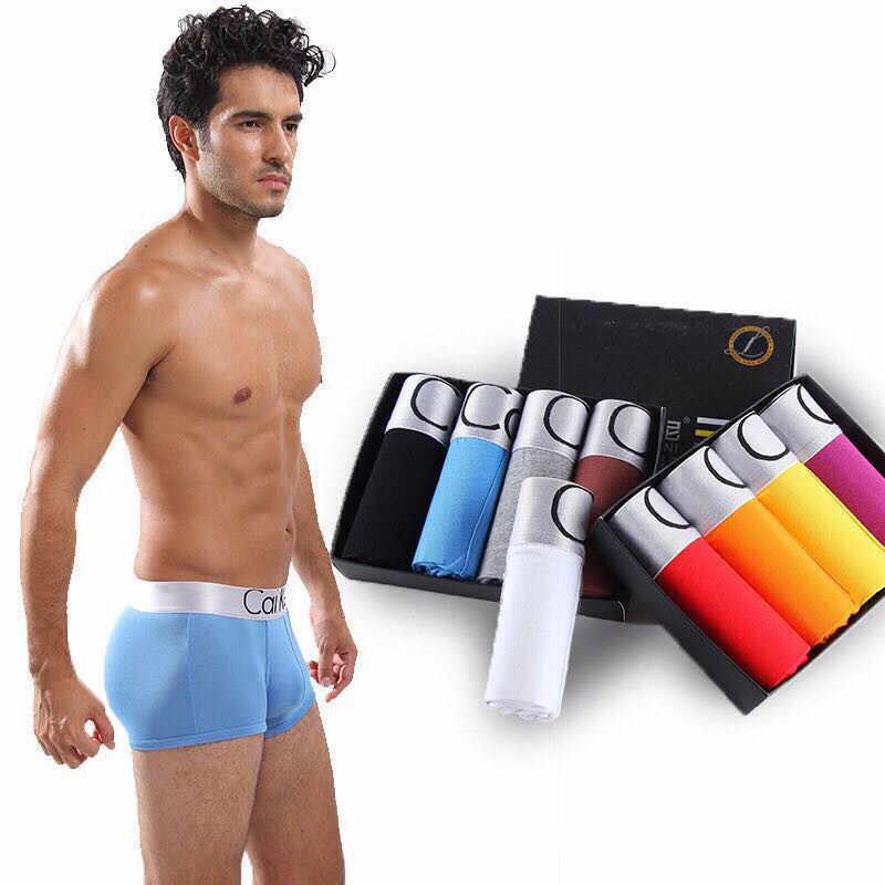 Marka Calvin bielizna męska mężczyźni bokserki modalne męskie seksowne majtki męskie majtki dla homoseksualistów wygodne krótkie Cuecas miękkie bokserki Homme