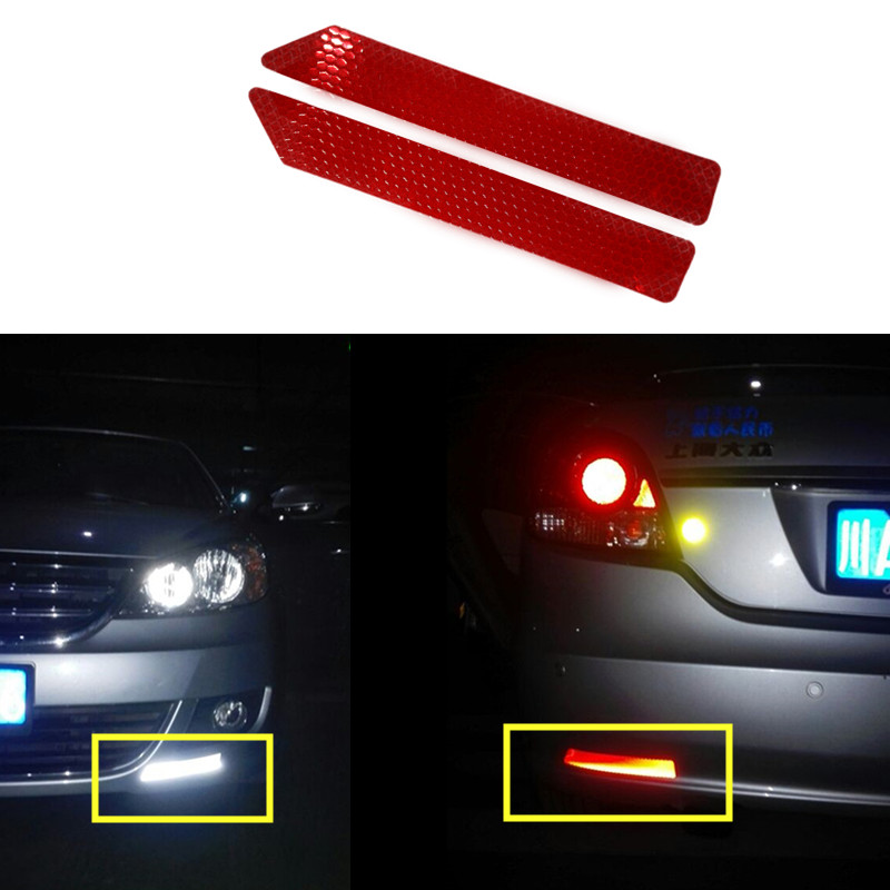 Car rear bumper anti collision rear end cars warning protector colorful reflective safety tape warning conspicuity