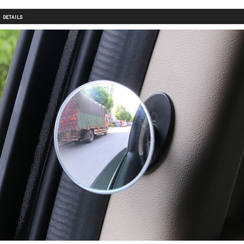 1pcs 360 Degree Frameless Ultrathin Wide Angle Round Convex Blind Spot Mirror For Parking Rear View Mirror