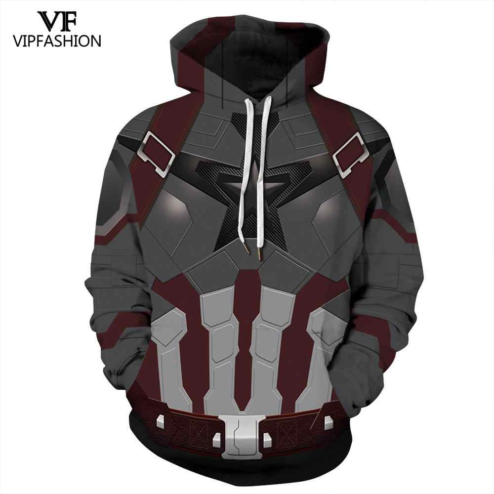 VIP Fashion 2019 New Products Man Hoodies 3d Printed Marvel Super Hero Captain American Suits Pattern Couple Sweatshirt