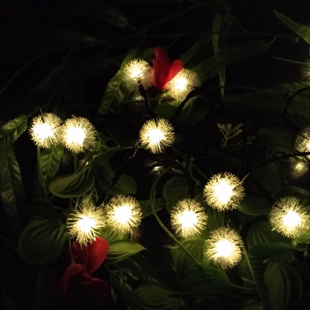 Ball Waterproof Snowball Colorful LED Fairy Light String For Outdoor Christmas Decoration, AA Battery Operated  (3)