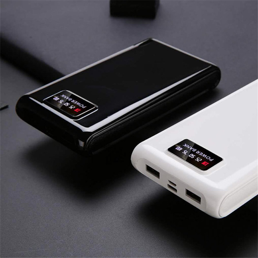 DIY 6 X 18650 Battery Charger Power Bank Battery Box Portable 18650 Batteries Case PowerBank Charger Box (No Battery)