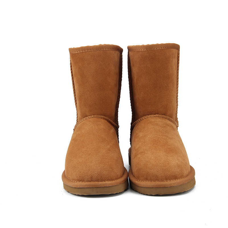 JXANG High Quality Genuine Leather  Australia Classic Fur snow boots Women Boots Warm winter shoes for women boots large size