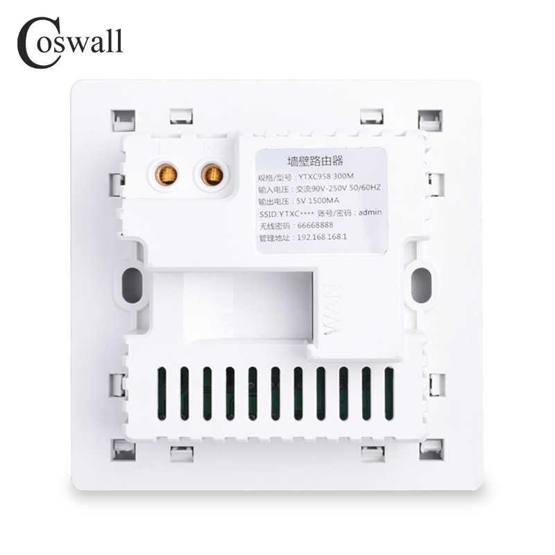 COSWALL 300 м настенный встроенный беспроводной AP маршрутизатор usb зарядный порт 1500ма выход Настенный wifi Routeur панельная розетка