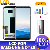 NEW AMOLED LCD Display for SAMSUNG GALAXY Note 8 Touch Screen Digitizer Assembly LCDs Replacement Parts For Note8 6.3''inch