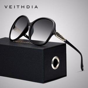 Image 1 - VEITHDIA Brand Designer Vintage Vrouwen Zonnebril Gepolariseerde Retro Luxe Vrouwelijke Zonnebril gafas oculos de sol feminino VT3025