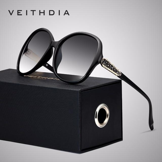 VEITHDIA Brand Designer Vintage Vrouwen Zonnebril Gepolariseerde Retro Luxe Vrouwelijke Zonnebril gafas oculos de sol feminino VT3025