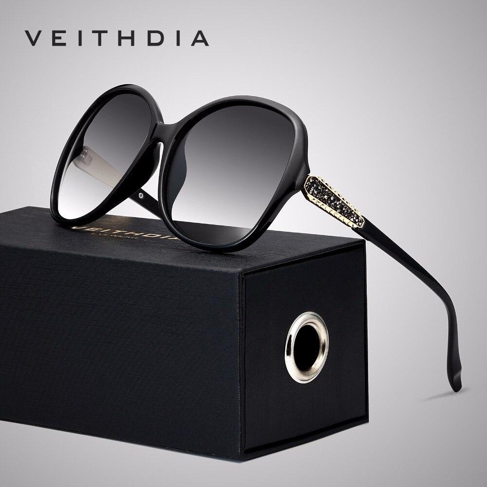 VEITHDIA Brand Designer Vintage Women Sunglasses Polarized Retro Luxury Female Sun Glasses gafas oculos de sol feminino VT3025-in Women's Sunglasses from Apparel Accessories