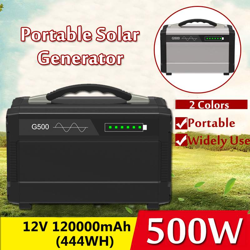 500W 5 Way Output 12V 110V 220V Pure Sine Wave Portable Solar Generator Power Outdoor Power Led Lighting System Home Outdoor500W 5 Way Output 12V 110V 220V Pure Sine Wave Portable Solar Generator Power Outdoor Power Led Lighting System Home Outdoor