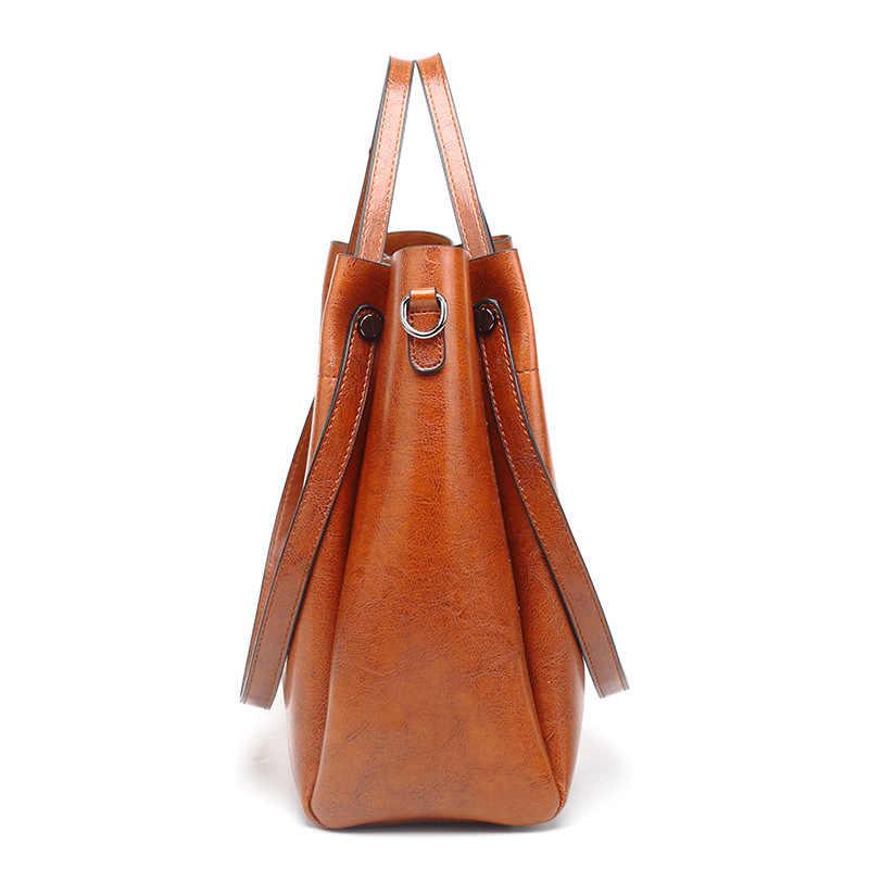 Mode huile cire cuir femmes sacs à main de luxe Designer sacs à bandoulière pour femmes sac de haute qualité en cuir sac à main s dames C874