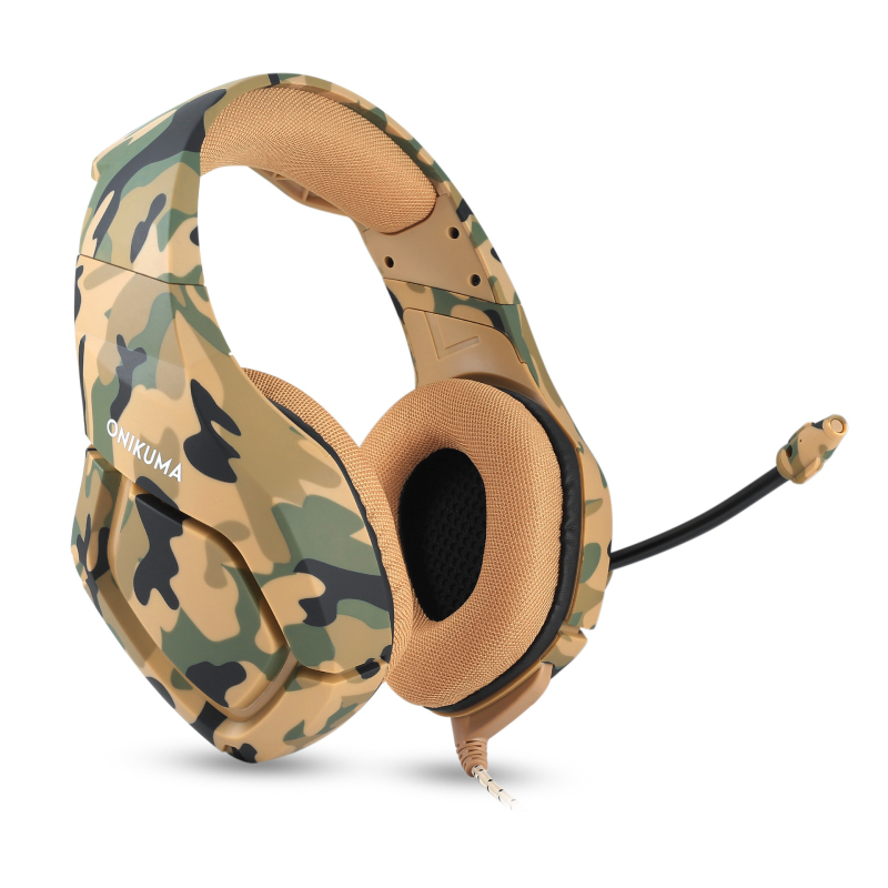 ONIKUMA K1B Camouflage PS4 Headset Bass Gaming Headphones Game Earphones Casque with Mic for PC Mobile Phone New Xbox ndju k1 camouflage headset super bass ps4 gaming headphones with mic game earphones for pc mobile phone xbox one tablet casque