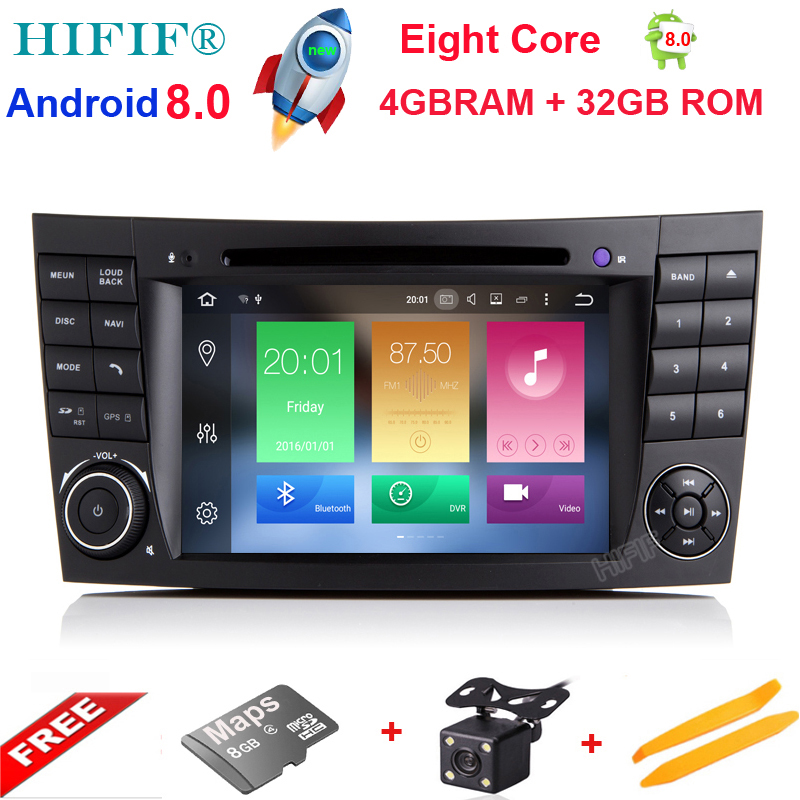 купить HIFIF Android 8.0 Two Din 7 Inch CarDVD Player For E-Class/W211/Mercedes/Benz/CL Octa Cores 4G RAM 32G ROM 3G/4G WIFI Radio GPS по цене 22103.27 рублей