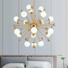 Arañas LED nórdico de diente de león, luces de frijoles mágicos americanos, decoración artística, accesorios de iluminación para sala de estar, comedor y dormitorio
