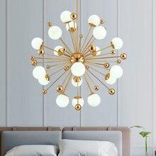 Plafonnier pissenlit avec haricots magiques de style américain, design artistique, design nordique, luminaire décoratif, idéal pour un salon, une salle à manger ou une chambre à coucher, LED