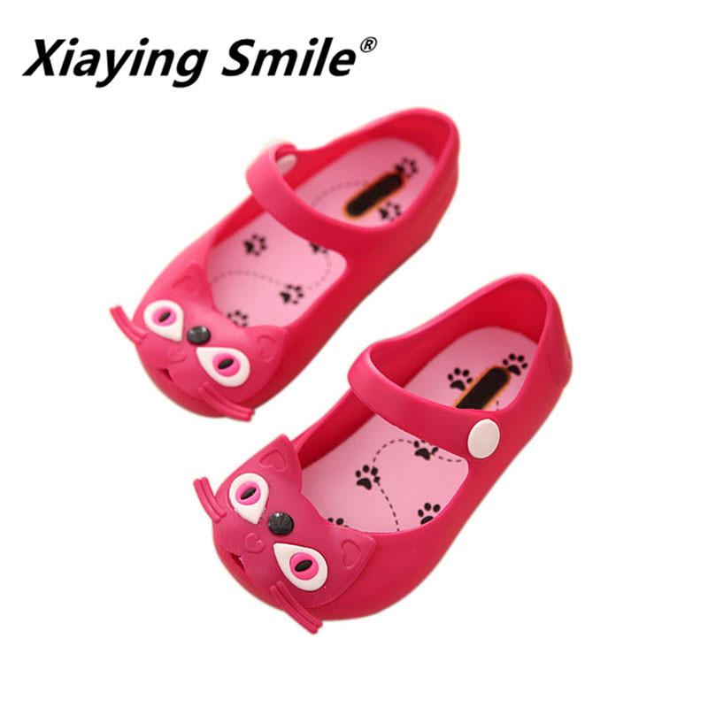 Xiaying Smile children Jelly shoes 2018 New Style Summer Cat Rubber sole baby boys girls casual comfortable kids sandals