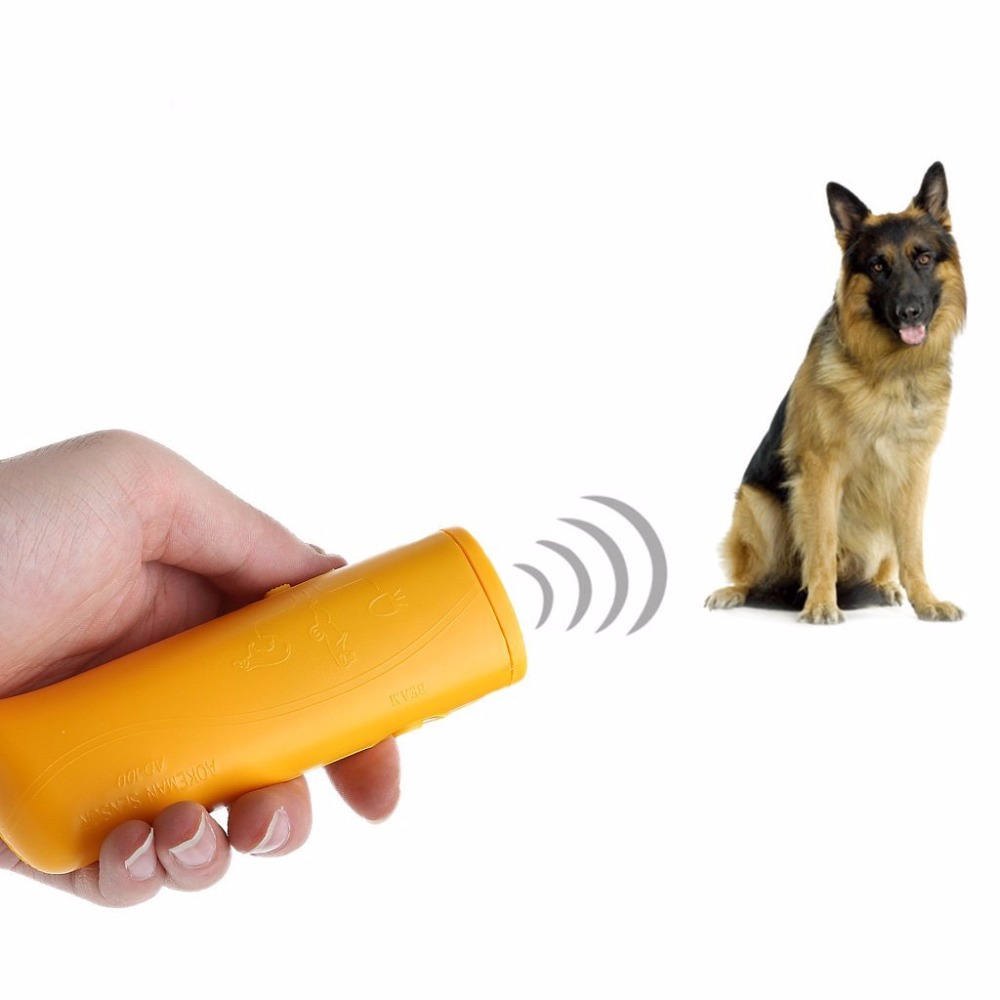 Pet Training Device Trainer With LED 3 in 1 Anti Barking Stop Bark Ultrasonic Pet Dog Repeller