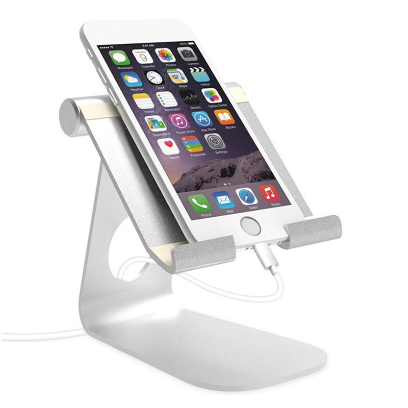 Portable Mobile Phone Stand Aluminum Alloy Desktop Holder Cradle For iPad Pro/iPad Air/i ...