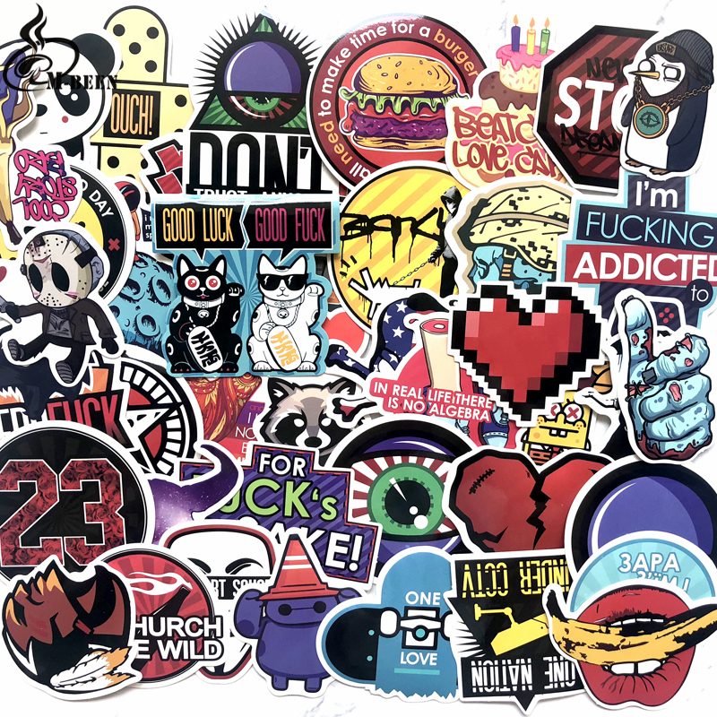 50 Pcs Colorful Waterproof Sticker Animal Cartoon Punk Game Stickers For Diy Skateboard Guitar Suitcase Laptop Bicycle Stickers Invigorating Blood Circulation And Stopping Pains