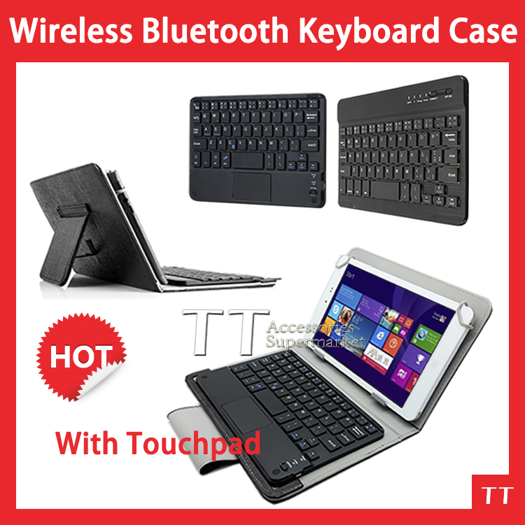 Universal Bluetooth Keyboard with touchpad Case for 8Tablet PC Chuwi VI8 VI8 plus VI8+ Wireless Bluetooth Keyboard Case + gifts universal 61 key bluetooth keyboard w pu leather case for 7 8 tablet pc black