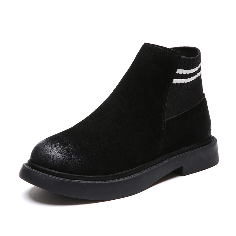 The new autumn 2018 Martin boots flat short tube with restoring ancient ways round head women's boots 40