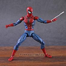 The Amazing Spider-Man Spiderman MAFEX No. 075 Ver Comic. PVC Action Figure Collectible Modelo Toy(China)