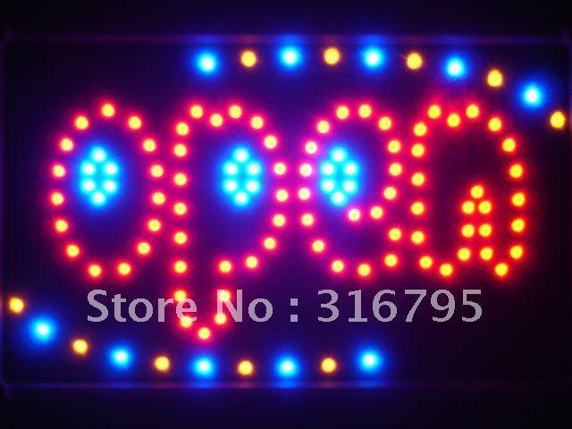 led112-r OPEN Shop Bar Beer Led Neon Sign WhiteBoard