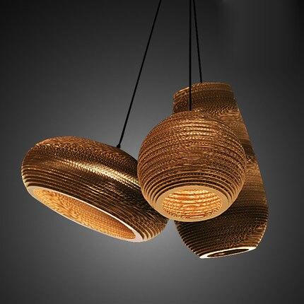 Vintage Rural Papier Nid D'abeille Soutien-Gorge Lampe Pendentif Lumières Abat-Jour Papier Lanternes Pour La Maison et Bar creative design lampe Décoration
