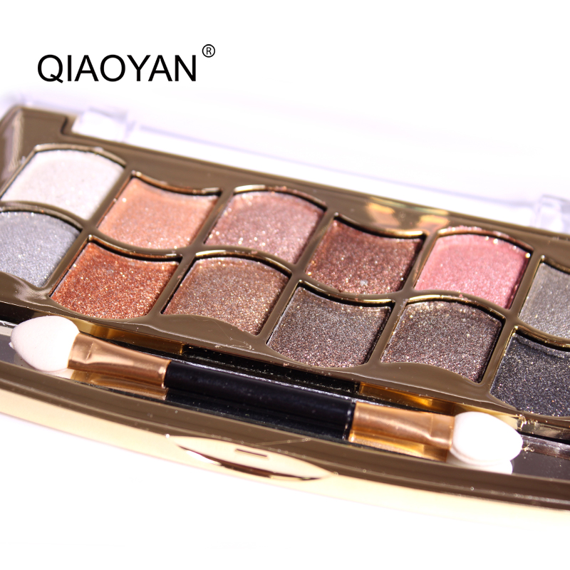 Natural 12 Colors Eye Shadow Cosmetic Long Lasting Makeup Eyeshadow Palette Professional Makeup Glitter Eye Shadow Palette