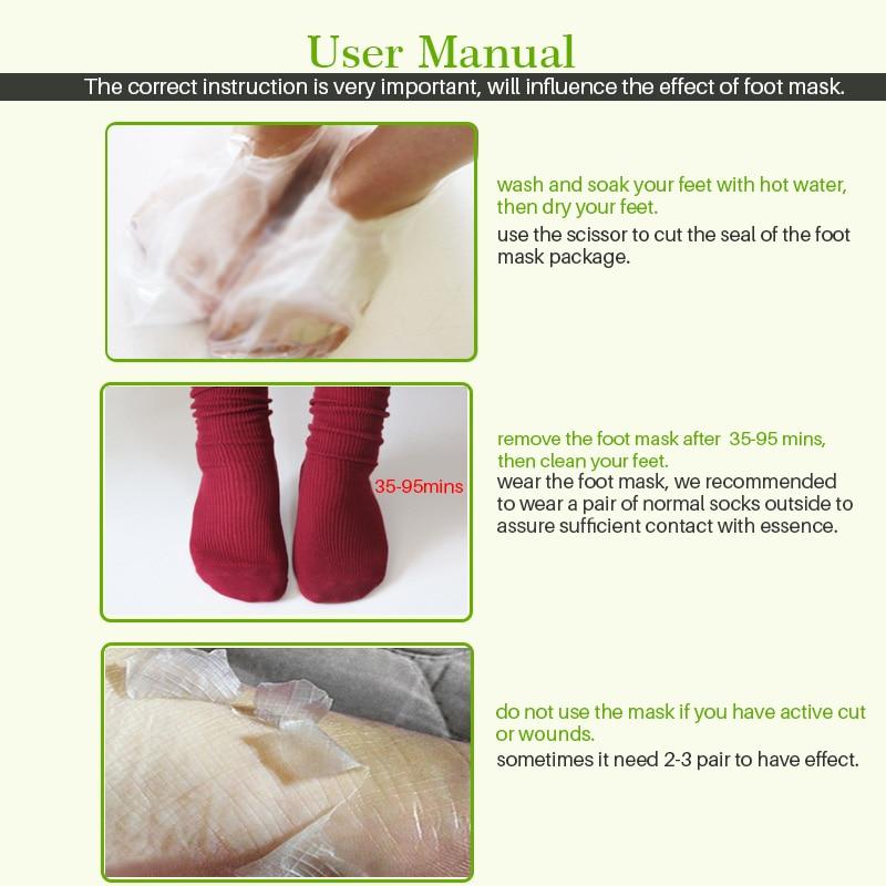2pair Baby Foot Mask Exfoliating Foot Mask Feet Cream Nourish Moisturizing Smooth Calluses Peeling Feet Care Socks for Pedicure 5