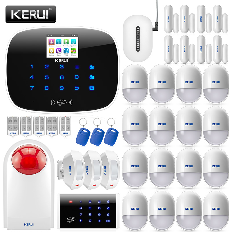 KERUI W193 sans fil WCDMA 3G APP télécommande écran tactile Alarme WIFI PSTN GSM Smart Home système d'alarme de sécurité antivol ensembles
