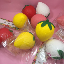 16 pcs lot Cute cartoon fruit strawberry slow rising squishy toys cell phone charm accessories squishies
