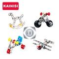 KAINISI Metal Model Building Kits Aircraft Motorcycle Trojans Bicycle Enlighten Assemblage Toys VS 3d metal model kits