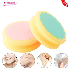 Magic Painless Hair Removal Depilation Sponge Pad Remove Hair Remover Effective freeshipping(China)