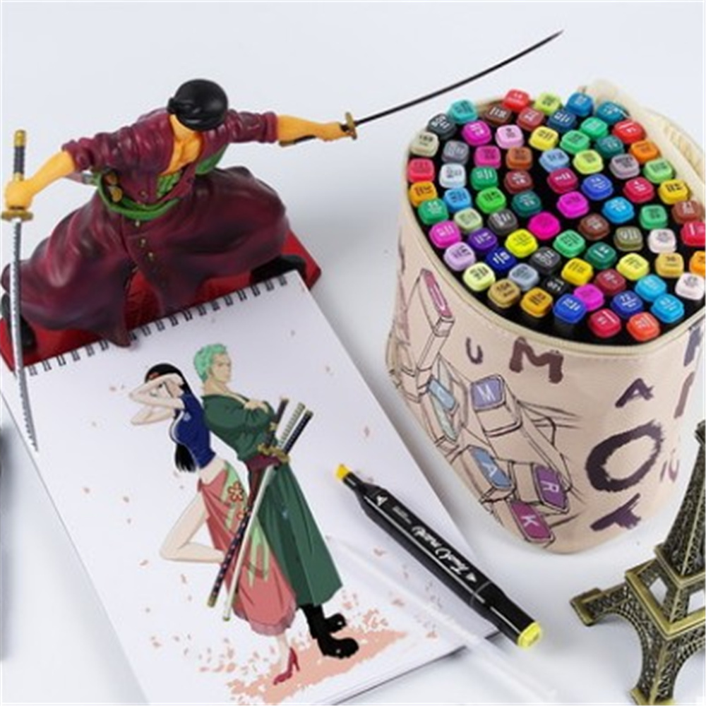 Touch mark three 60 Color Painting Art Mark Pen Alcohol Oliy Marker Pen Double Headed Art Copic Markers for Designers manga design 24 color three generations oily alcoholic paint mark pen permanent marker sketch double headed copic markers