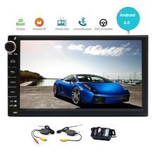 Wireless Rear Camera+Android 6.0 Car Stereo Wifi Autoradio Bluetooth Handsfree in dash Car Radio GPS Navigation Head Unit 1080P