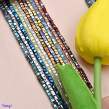 Hot Colourful 2mm 200pcs Spacer Cube Crystal Bead Charms Candy Finding Glass Square Beads For DIY Jewelry Making Beaded Braclet(China)