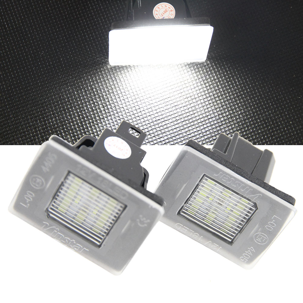 2 x 18SMD 3528 LED License plate light Bulb 6000K Xenon White For BENZ W176 W156 R172 X166 W166 Vito W447 Canbus Error Free