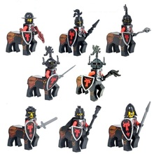 8pcs/Set Figures Building Blocks Sets china brand Medieval knight Matthew series The third party  compitble with Lego