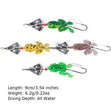 Goture 8 pcs/lot All Water Fishing Lure Frog Soft Lure 9cm 6.2g Selicone Bait with Spinner Bass Carp Fishing Tackle