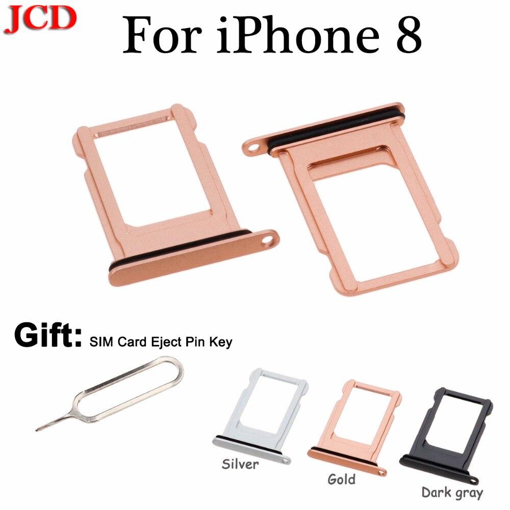 JCD New Nano SIM Card Tray Holder Slot Replacement for Apple for iphone 8  SIM Card Tray Holder Gift SIM Card Eject Pin Key